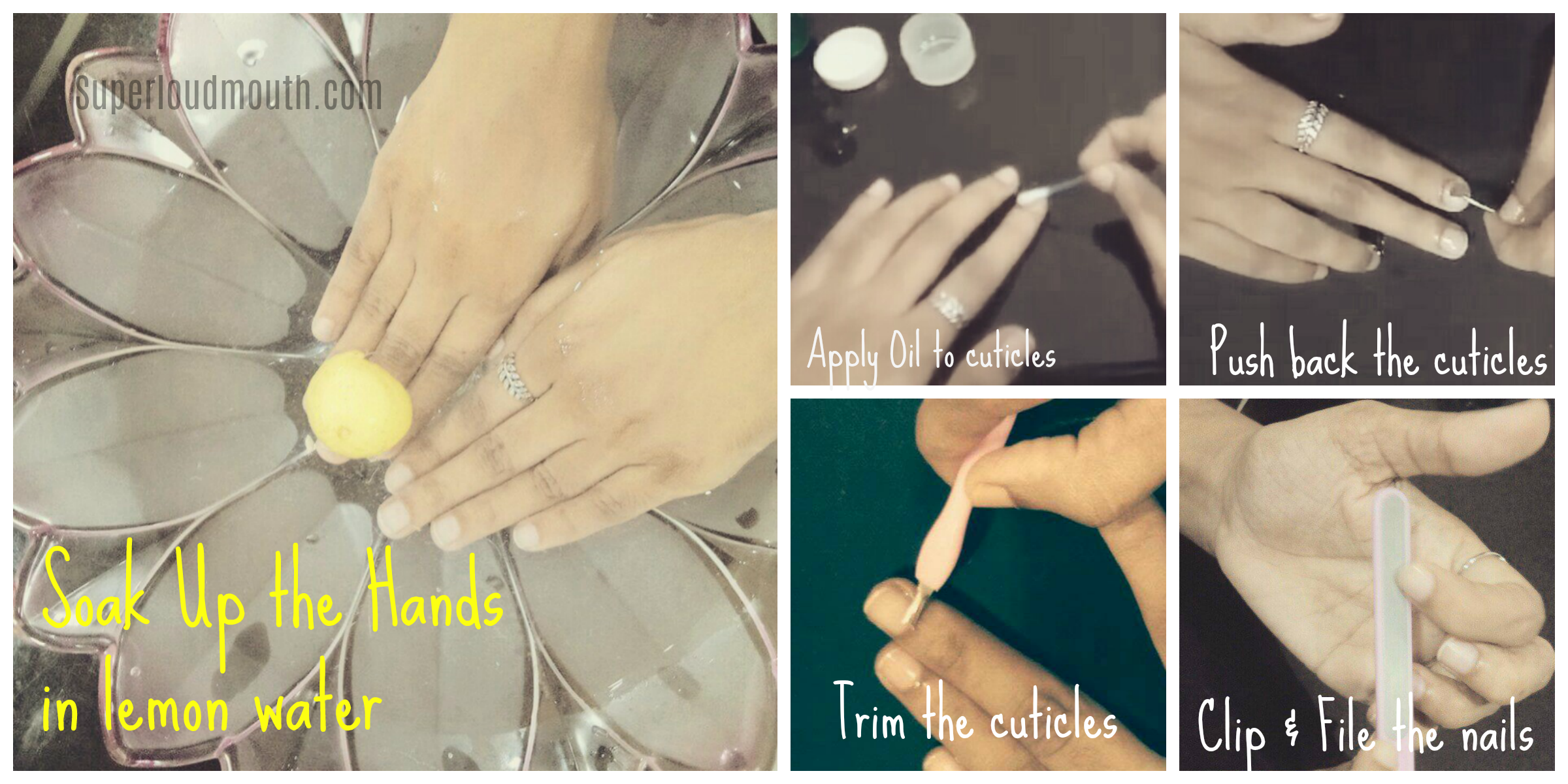 how to do manicure at home step by step