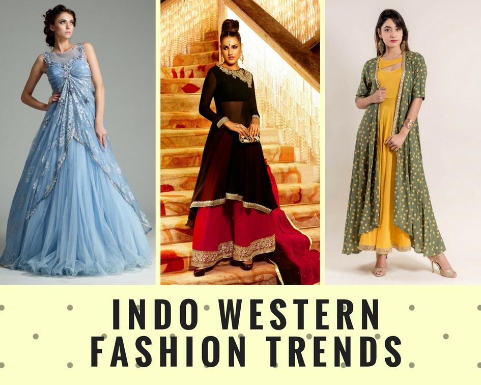 Designer Indo Western Fashion Trends| Dresses for Womens